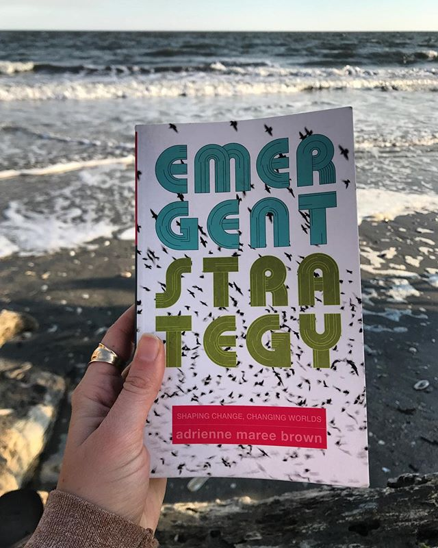 It takes me a long time to finish books, but I am so glad that I made the time to read Emergent Strategy all the way through. It's one of those books that I feel like should be read multiple times, and kept on hand to reference. I'd highly recommend this book for anyone interested in social justice, racial justice, equity in all its forms, organizing groups of people for a common cause, and learning how to communicate more clearly with ourselves and the world around us. My favorite description of what emergent strategy is from the book is when @adriennemareebrown describes a flock of geese. They know where to go, they have a leader, that leader is constantly changing, they are in perfect harmony and they can feel it in their whole being. There is no question, they are simply in the flow. (Not a direct quote, but how I remembered/interpreted it). Emergent Strategy is something we can all bring into our lives. I'm excited to see how it plays out in my days, in my work, with Hex, and in my interpersonal relationships. 🐜 . . . What do you think I should read next?