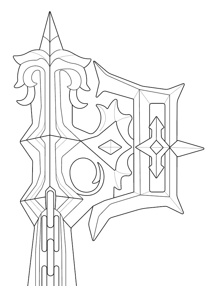 Keyblade Oblivion From Kingdom Hearts Blueprint Download