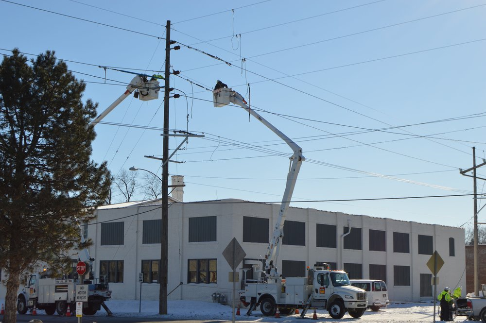 The cause of the downed power line is unknown -