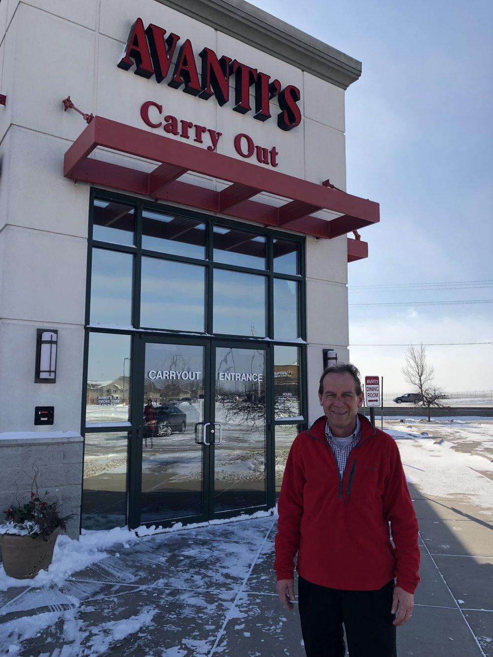 Rich Zeller, co-owner of Avanti's Italian Restaurant in Bloomington (Credit: Erik Prenzler)
