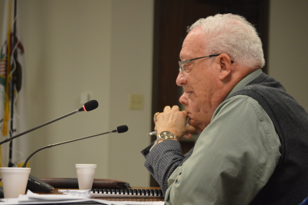 District 1 Representative Don Cavallini asked fellow McLean County Board members to table Invenergy's special use permit application for a proposed wind farm until a later date. (Image credit: Breanna Grow)