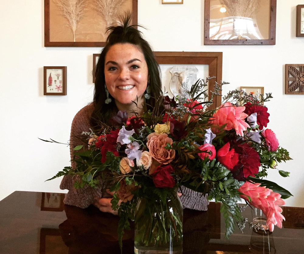 "Meg McCormick, owner and floral designer at Vera & Buck Floral Studio, says choosing to start her business in Bloomington was a ""no-brainer."" (Image credit: Vera & Buck Floral Studio)"