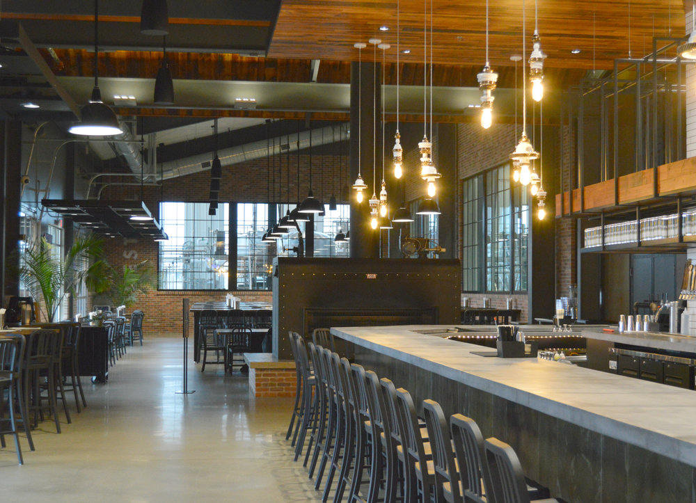 Destihl's Beer Hall offers 30 taps and an expanded food menu, with combined indoor and outdoor patio seating for 400.