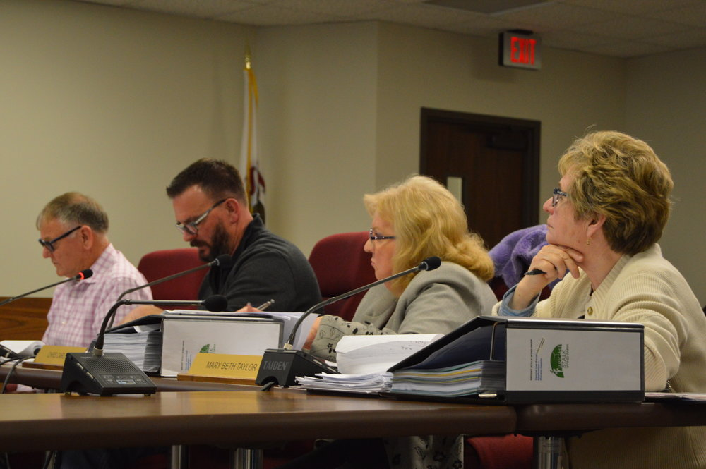 The McLean County ZBA unanimously approved a special use permit application Monday night for the proposed Bright Stalk Wind Farm near Chenoa. The application along with the ZBA's stipulations will go before the full County Board for a decision on March 20 (Image credit: Breanna Grow)