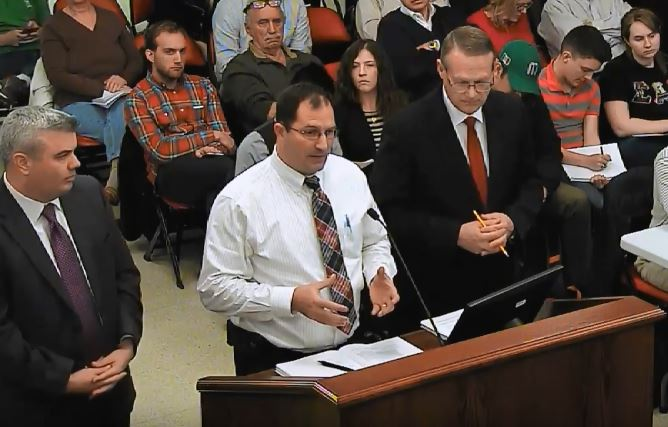 City of Bloomington Water Director Bob Yehl, center, speaks during a City council meeting February 13, 2017. (Photo: City of Bloomington/Youtube)