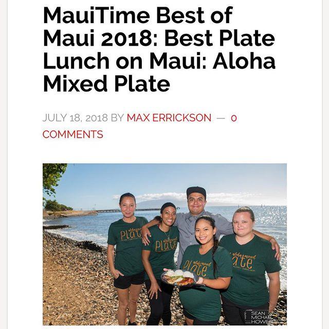 Mahalo Maui and @mauitimeweekly! Chee-hoo 🤙 #bestofmaui2018