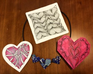 I Heart Zentangle Class, 1.31.15