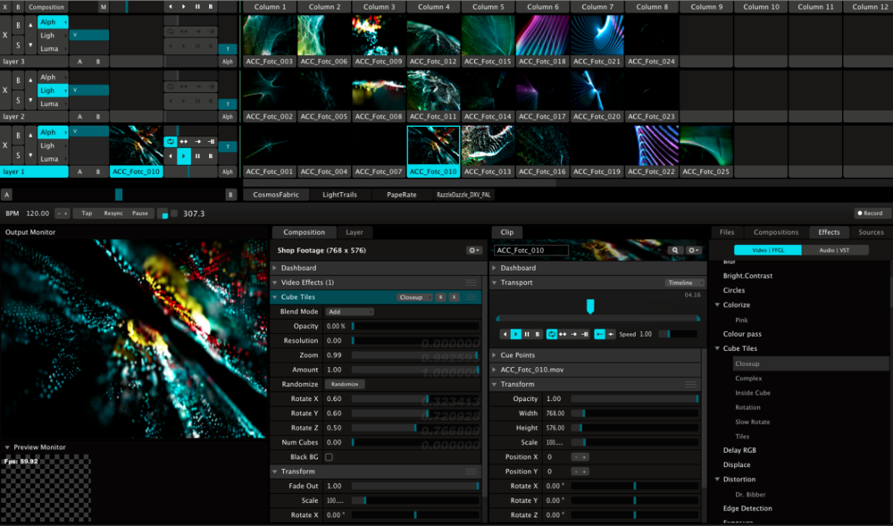 RESOLUME VJ SOFTWARE - IMMERSIVE DESIGN & PLAYBACKCUSTOM CONTENT CREATION3D MAPPING