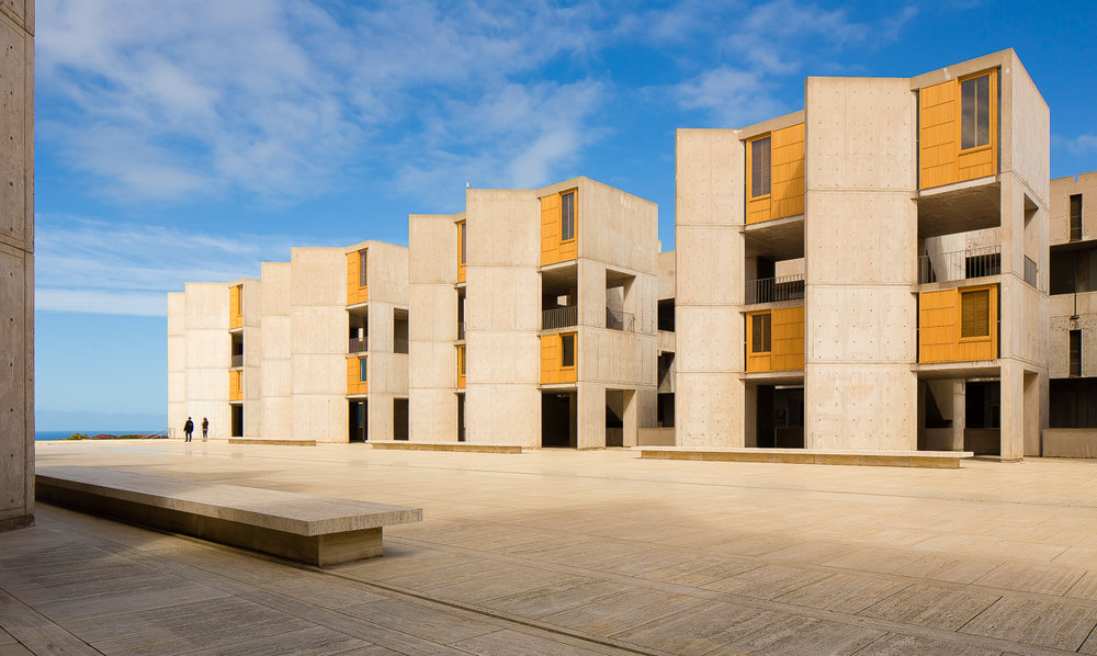 Designed by Louis Kahn the Salk Institute for Biological Studies is an independent, non-profit, scientific research institute located in the La Jolla community in San Diego, California. It was founded in 1960 by Jonas Salk. (c) 2018 Joshua James Huff