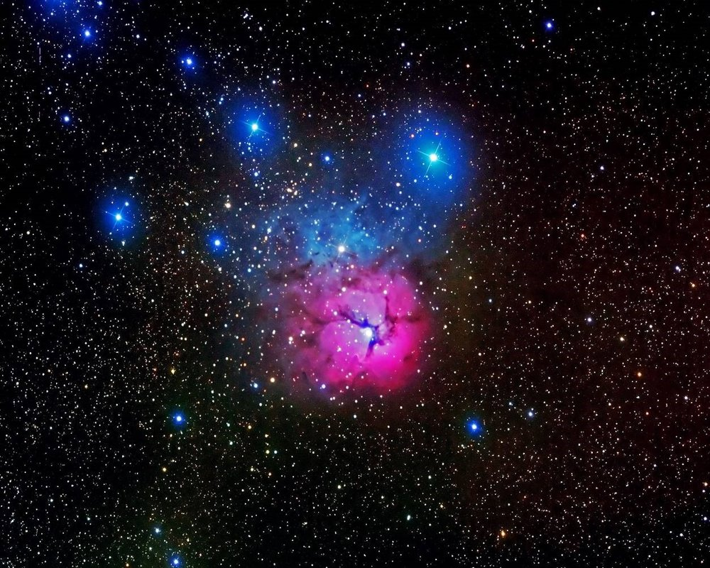 Trifid Nebula - ITelescope
