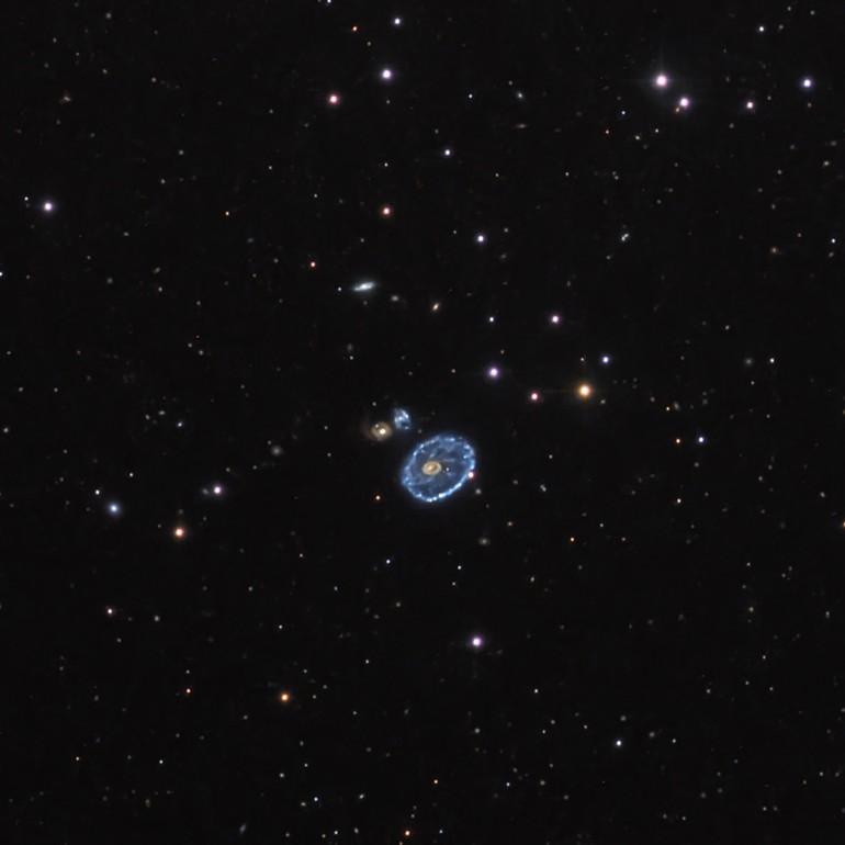 Cartwheel Galaxy by  Don Goldman