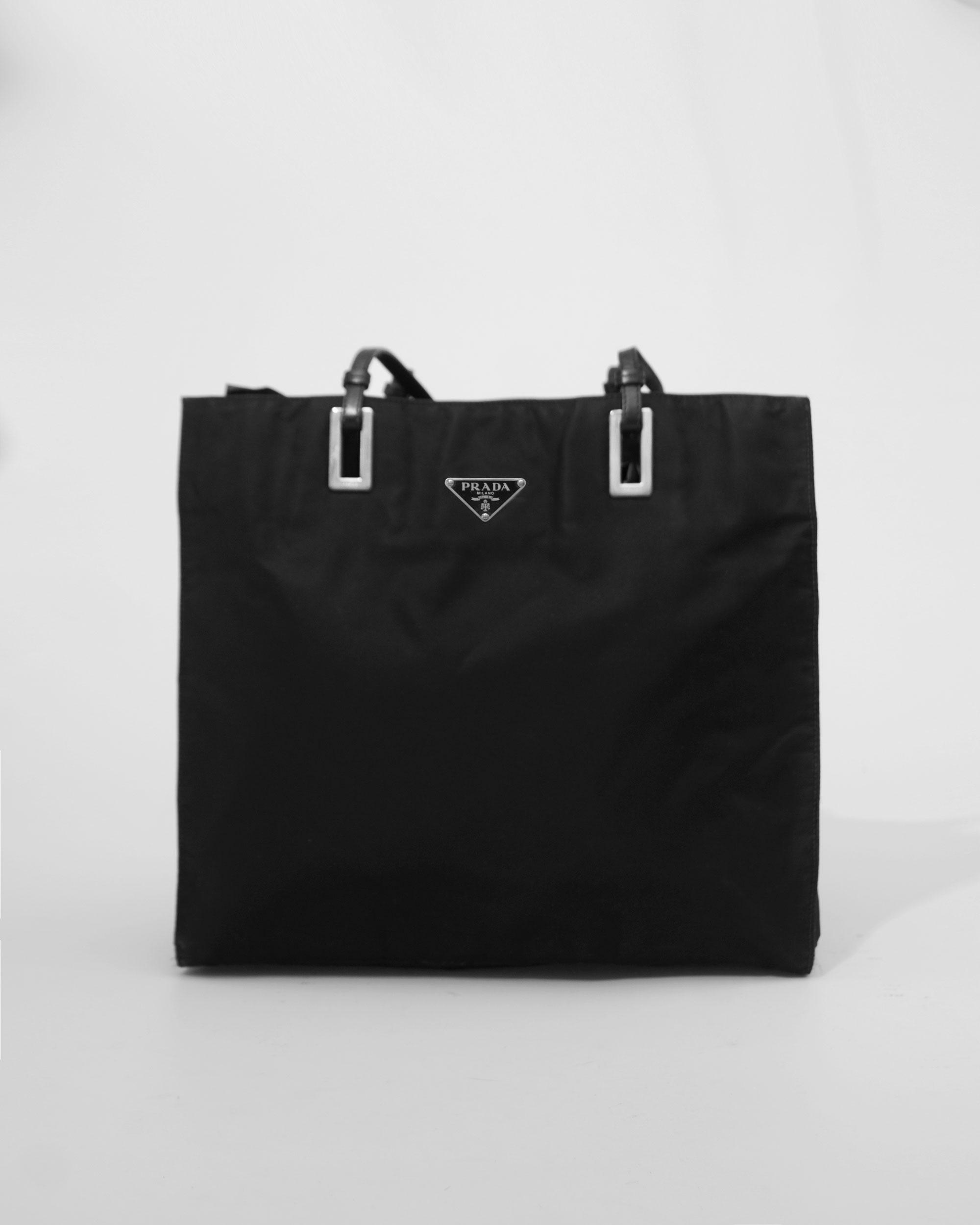fb055c19523f Prada Nylon Tote Bag Shoulder Bag Black 4.jpg