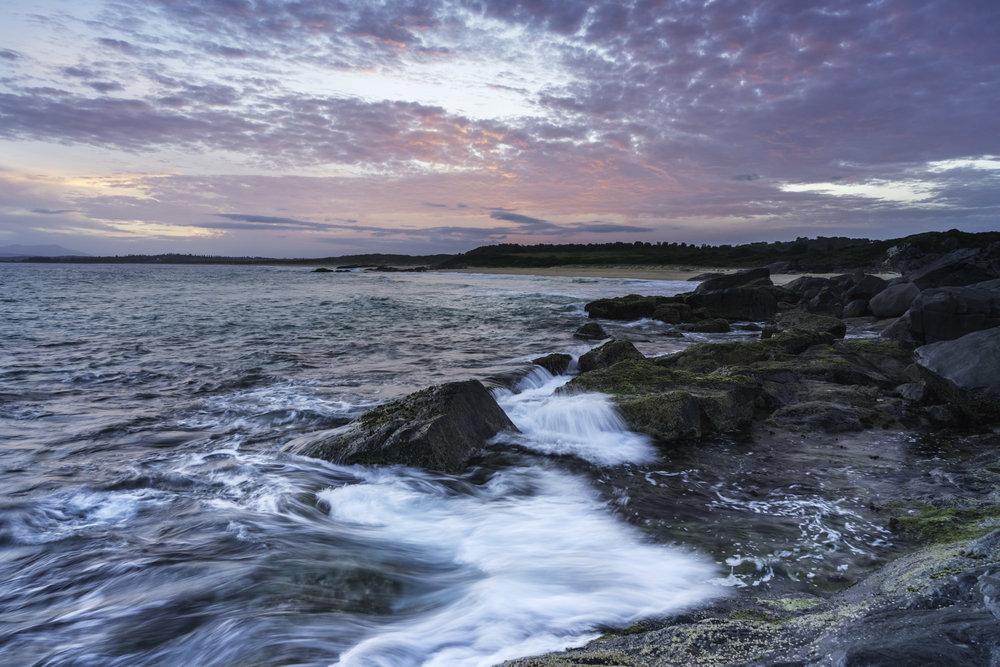 Sunset over Bingie Point, Australia - taken at 8:25pm