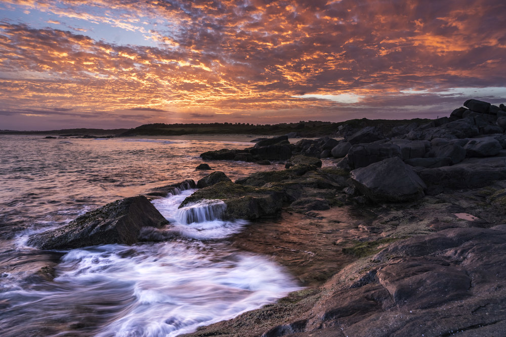 Sunset over Bingie Point, Australia - taken at 8:28pm (it pays to wait!)