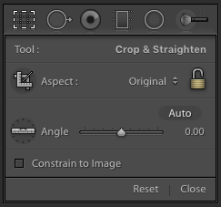 Angle Adjustment in Lightroom