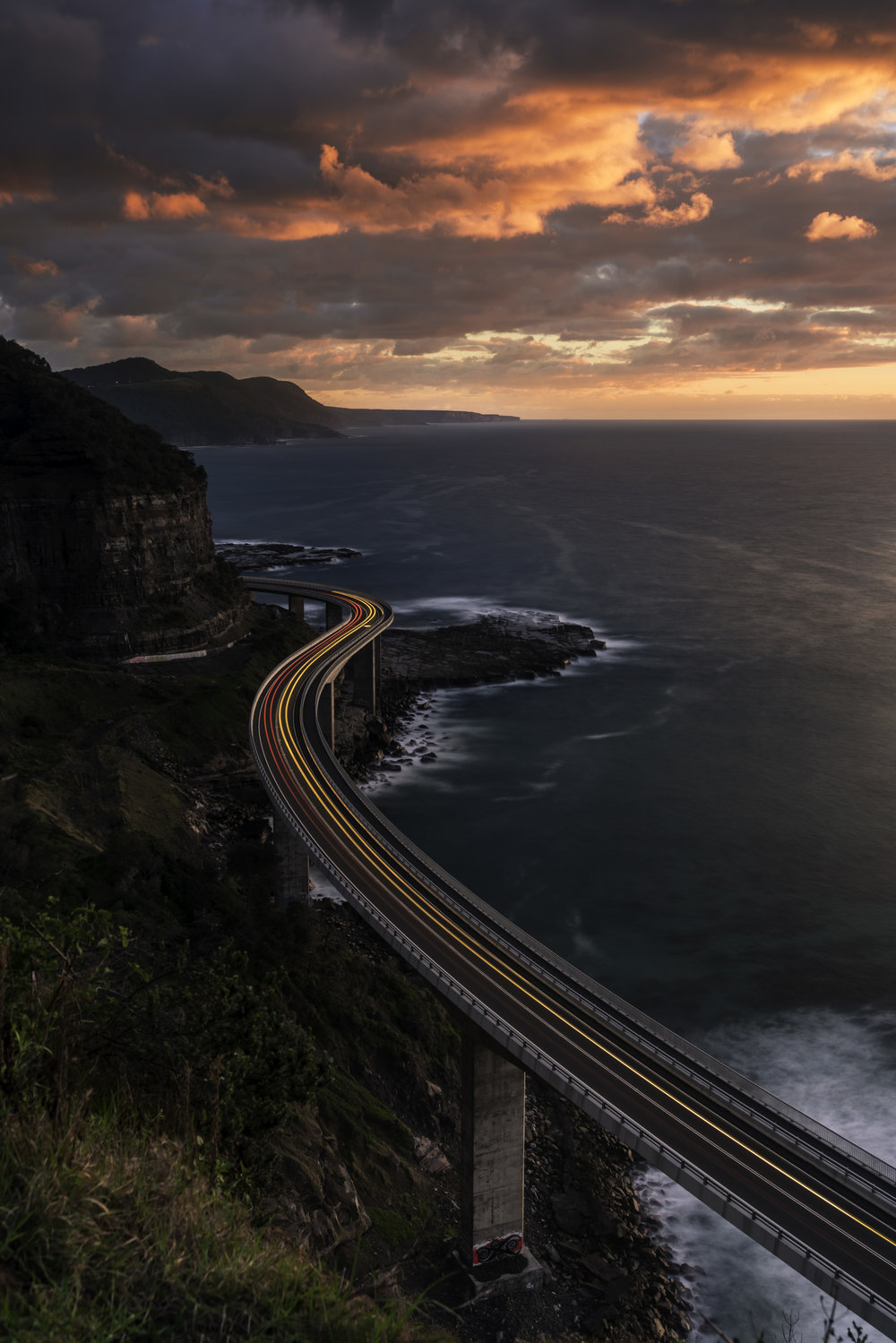 Sunrise over Sea Cliff Bridge