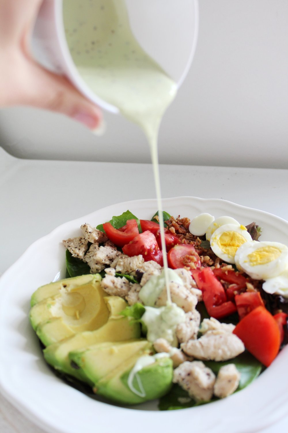 Panera Copycat Green Goddess Cobb Salad - By & She's Brave