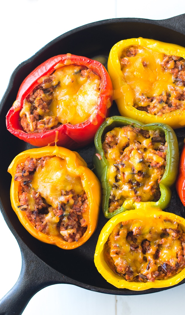 Ground Turkey Stuffed Peppers - By Dear Crissy
