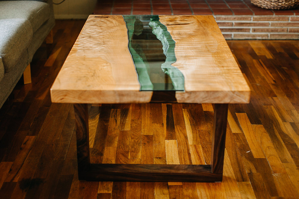 Glass Inlay Coffee Table