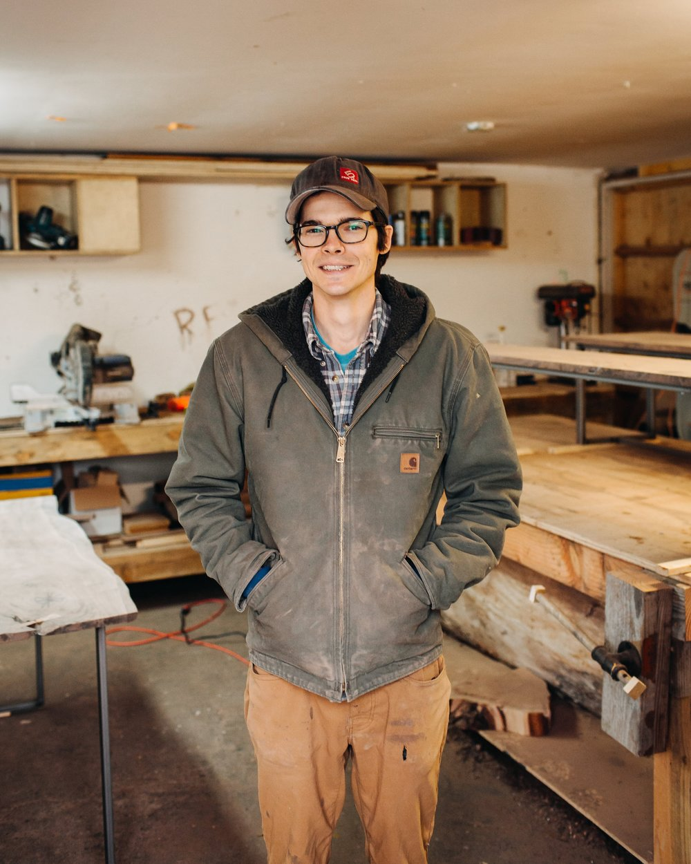 Justin Plant - Lead Woodworker, Artistic Director, Husband, Goof, Meticulous Planner, Rock Climbing Master