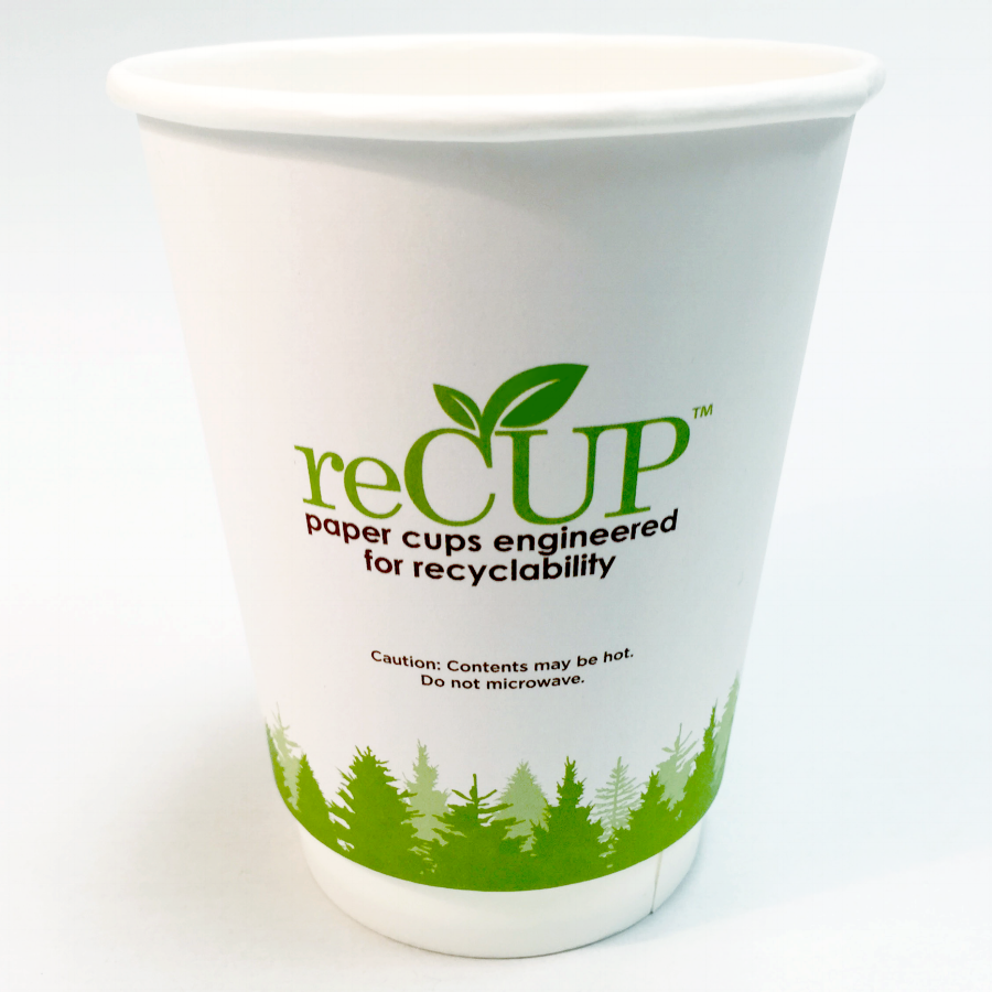 The user experience of a reCUP is the exact same as a poly-coated cup. The only difference is that reCUPs are valuable to collect and profitable to recycle.