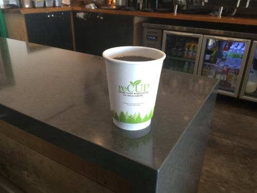reCUPs are the first commercially-available paper cups that are valuable to collect and profitable to recycle.