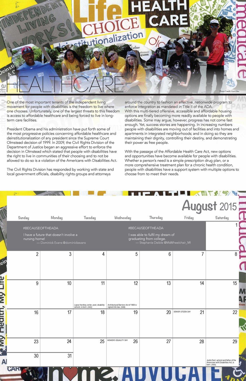 SVILC 2015 Calendar  August spread