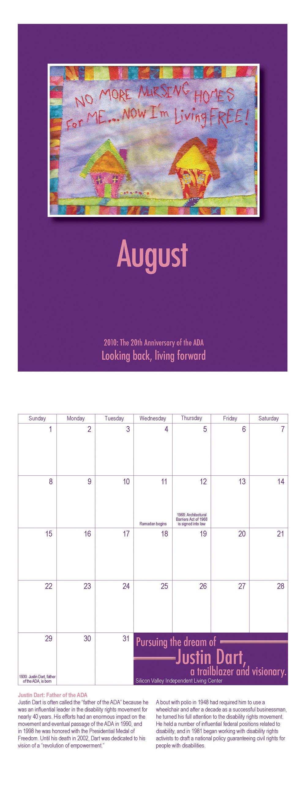 SVILC 2010 Calendar  August spread
