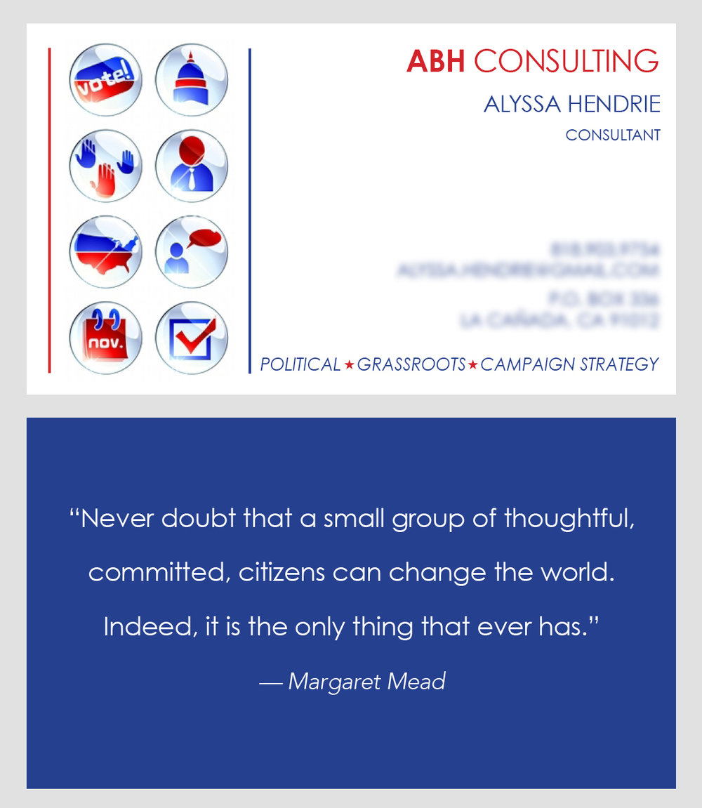 ABH Consulting Business Card  concept 1