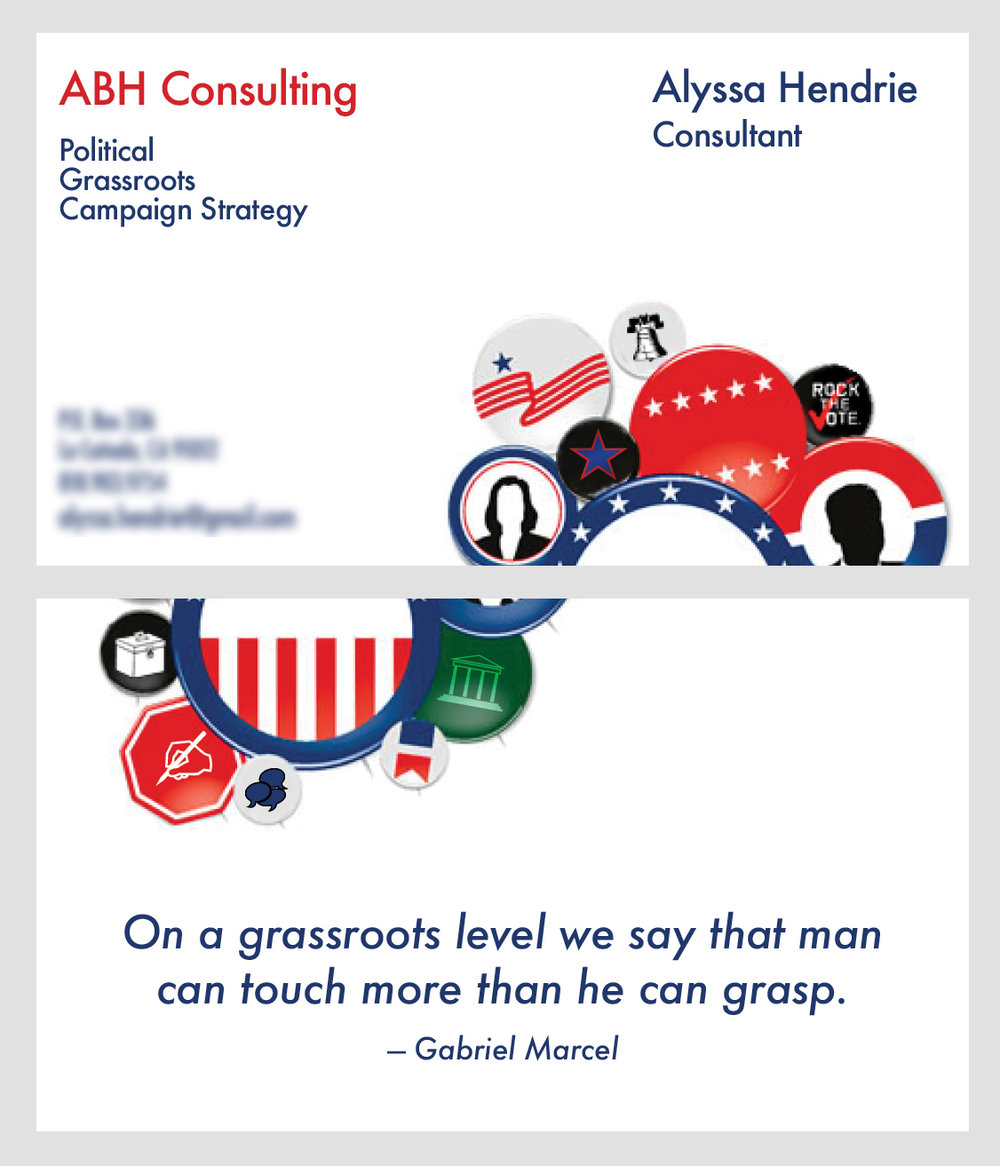 ABH Consulting Business Card  concept 2