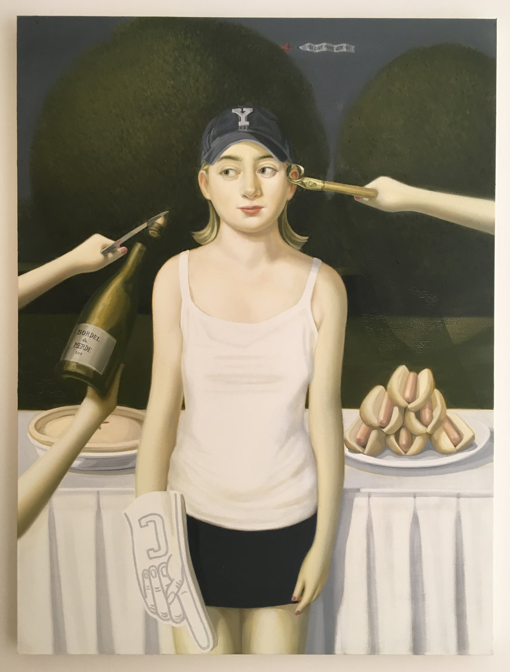 Step 1: denial  Oil on canvas  3 x 4 ft