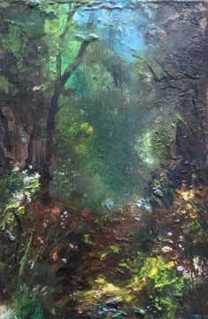 forest rest ii - oil on board - 15x10cm - sold