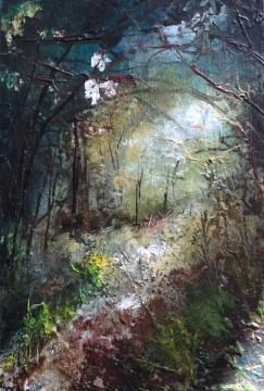 forest rest i - oil on board - 15x10cm - sold