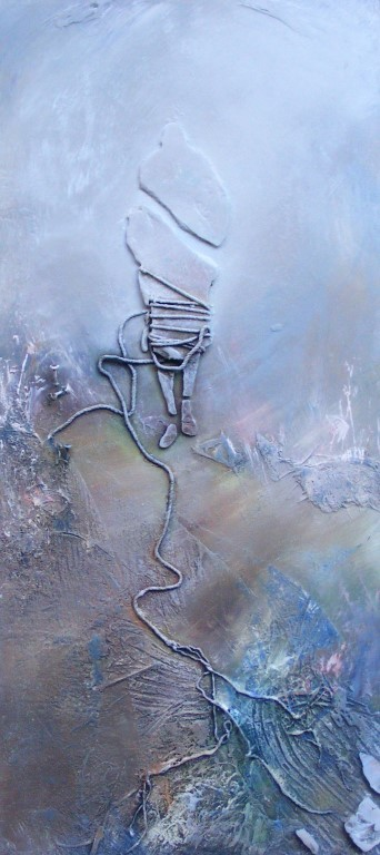 Rise II - mixed media on board - 80x37cm - SOLD