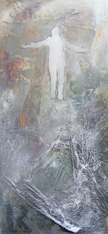 Across Africa, Risen - mixed media on board - 42x20cm - SOLD