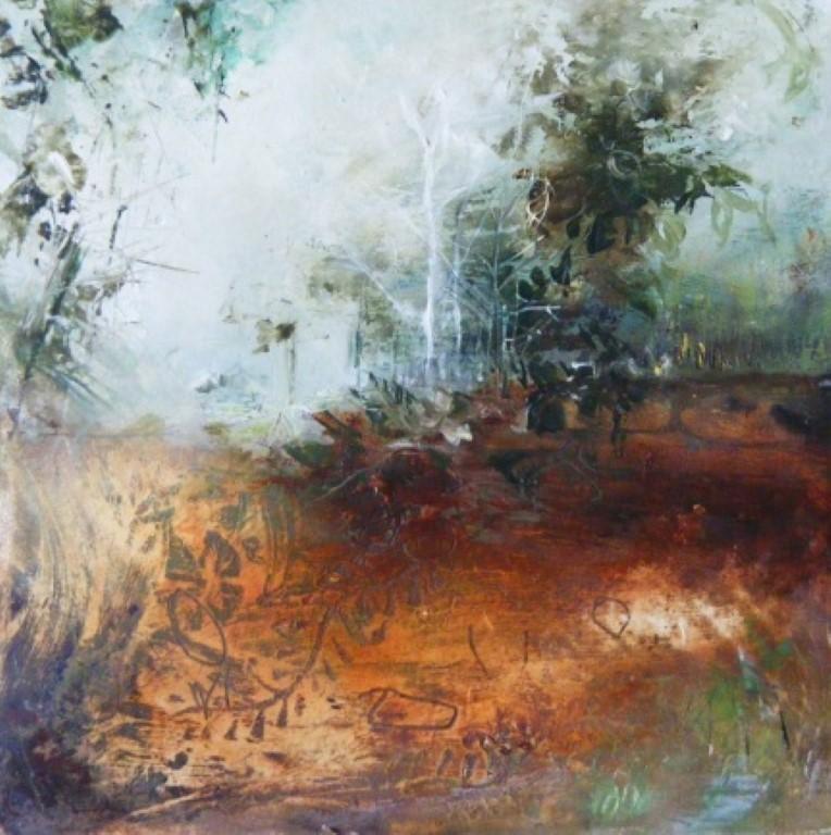 Sienna Soil - oil on board - 15x15cm - SOLD