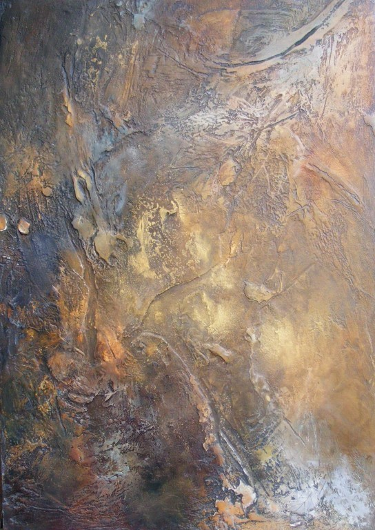 Autumn's Gold - mixed media on board - 60x42cm - SOLD