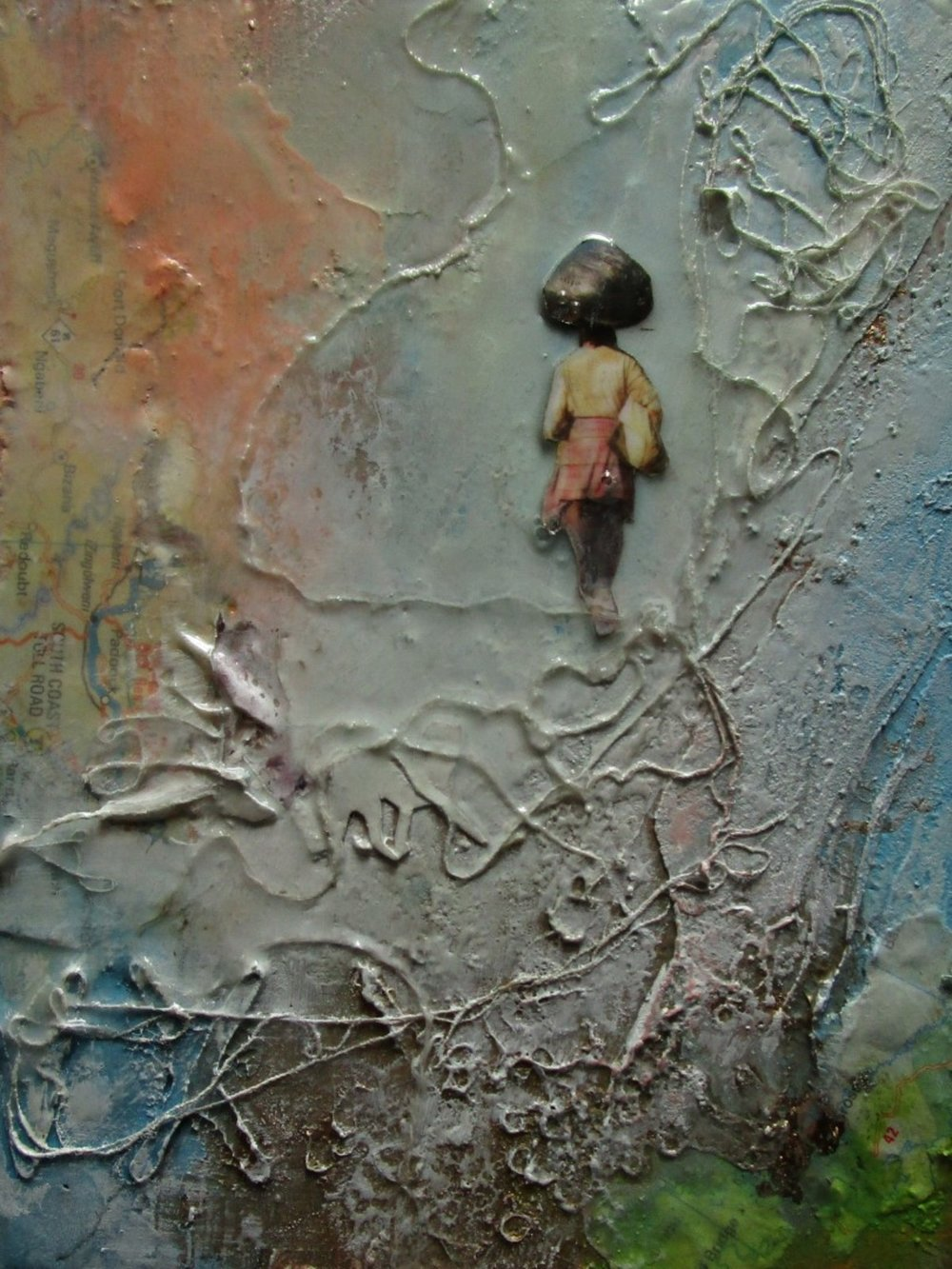 hopes ahead - mixed media on board - 16x12cm - SOLD