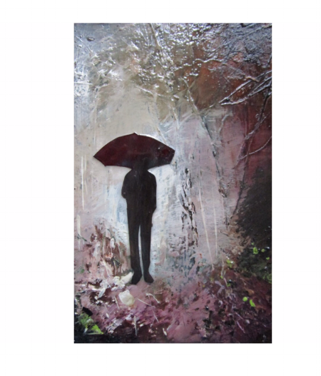 Within Rain - Mixed Media on Board - 16x12cm - SOLD