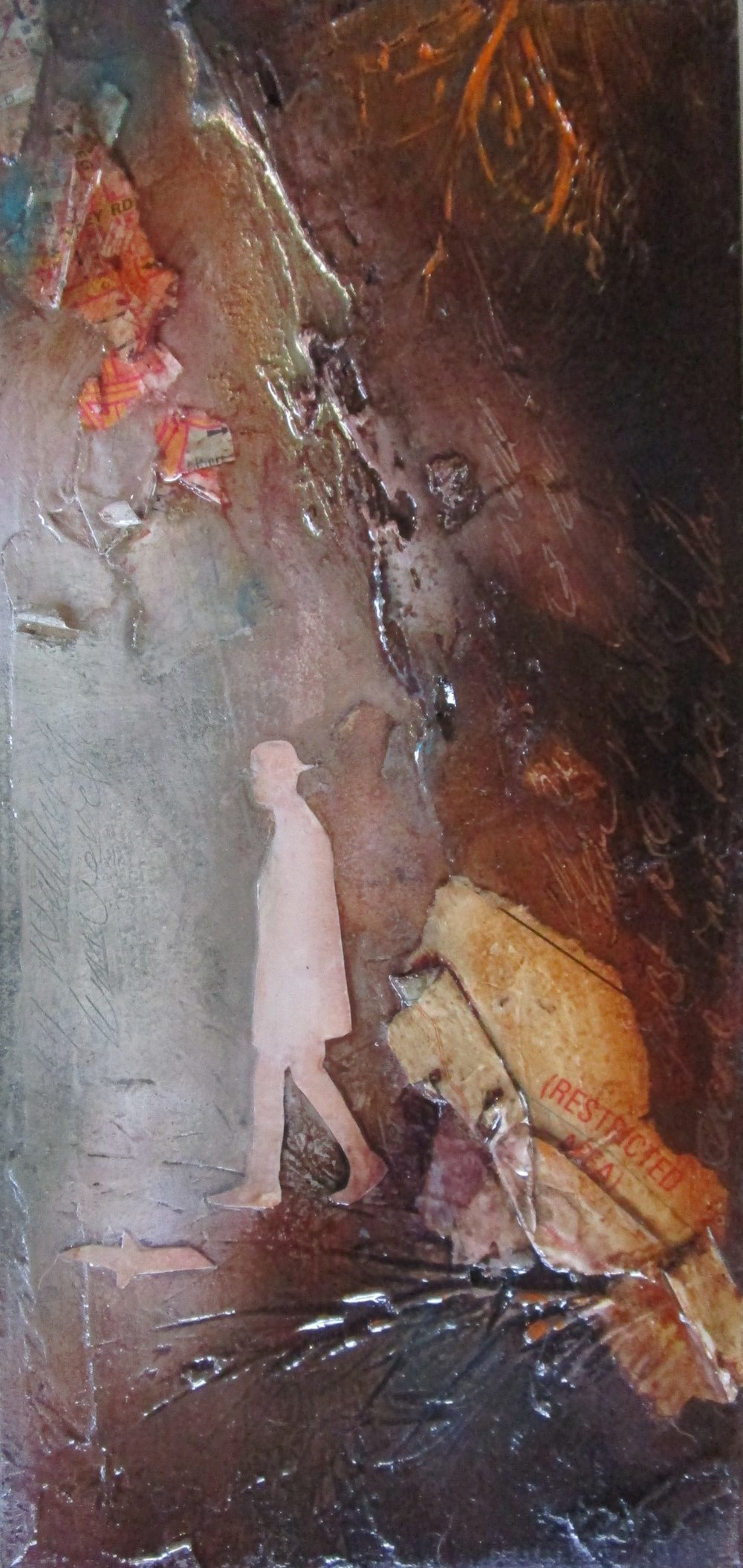 Lara Mellon - Crossing Roads - Mixed Media on Board - 21x10cm.JPG
