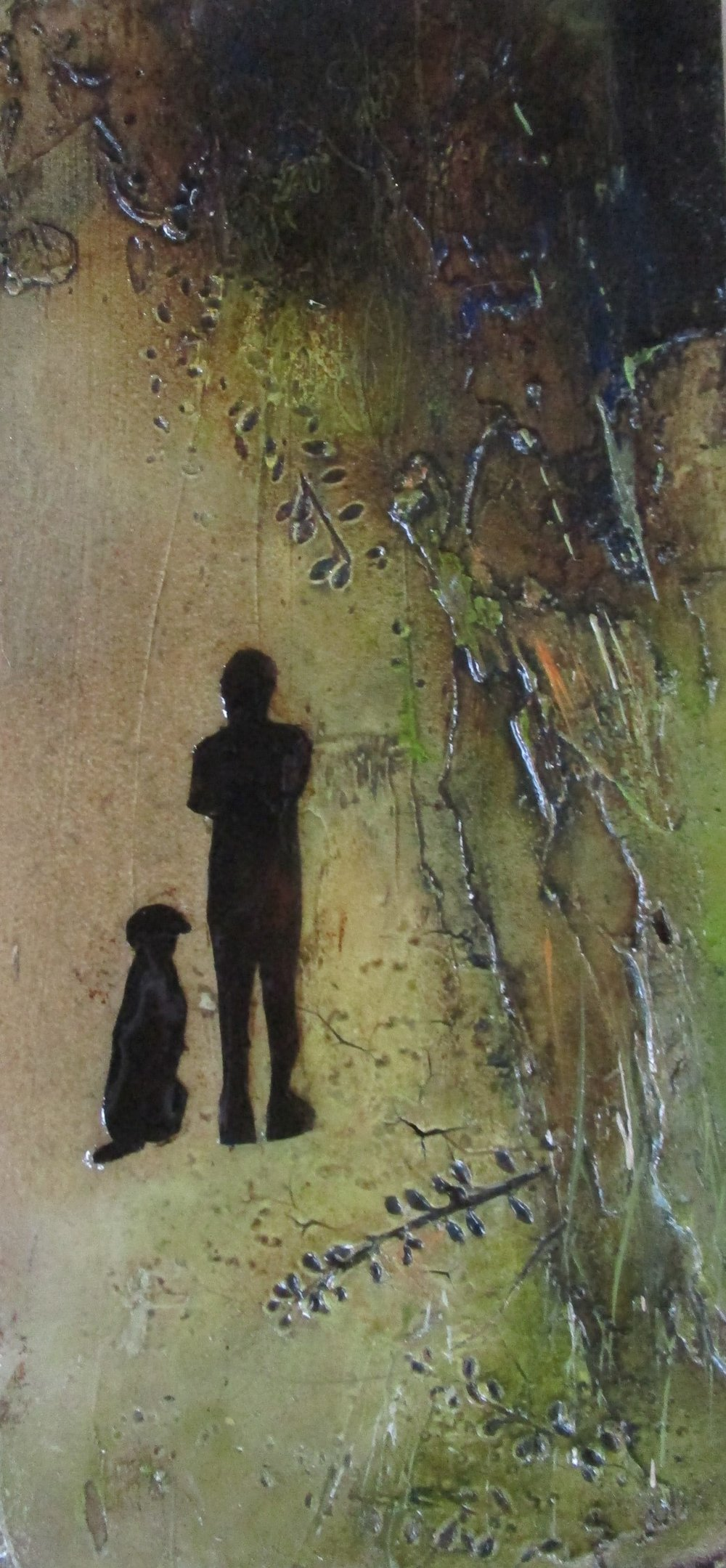 Lara Mellon - Waiting Together - Mixed Media on Board - 21x10cm.JPG