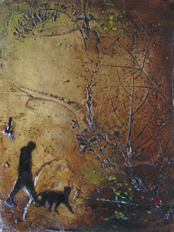 Lara Mellon - With Company II - Mixed Media on Board - 16x12cm.JPG