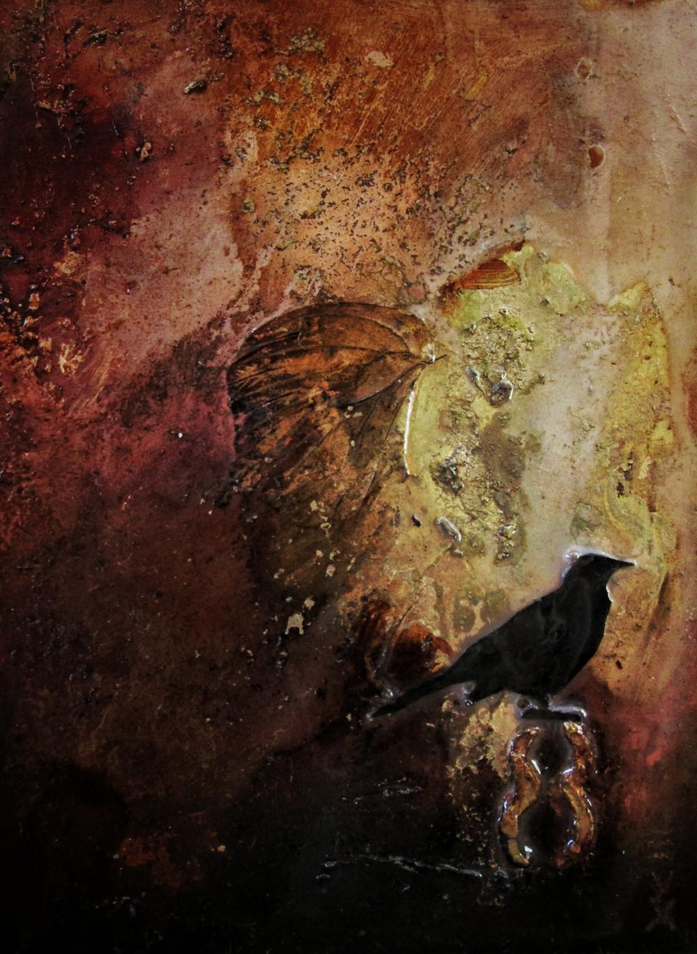 Lara Mellon - Infinity Bird - Mixed Media on Board - 16x12cm..PNG
