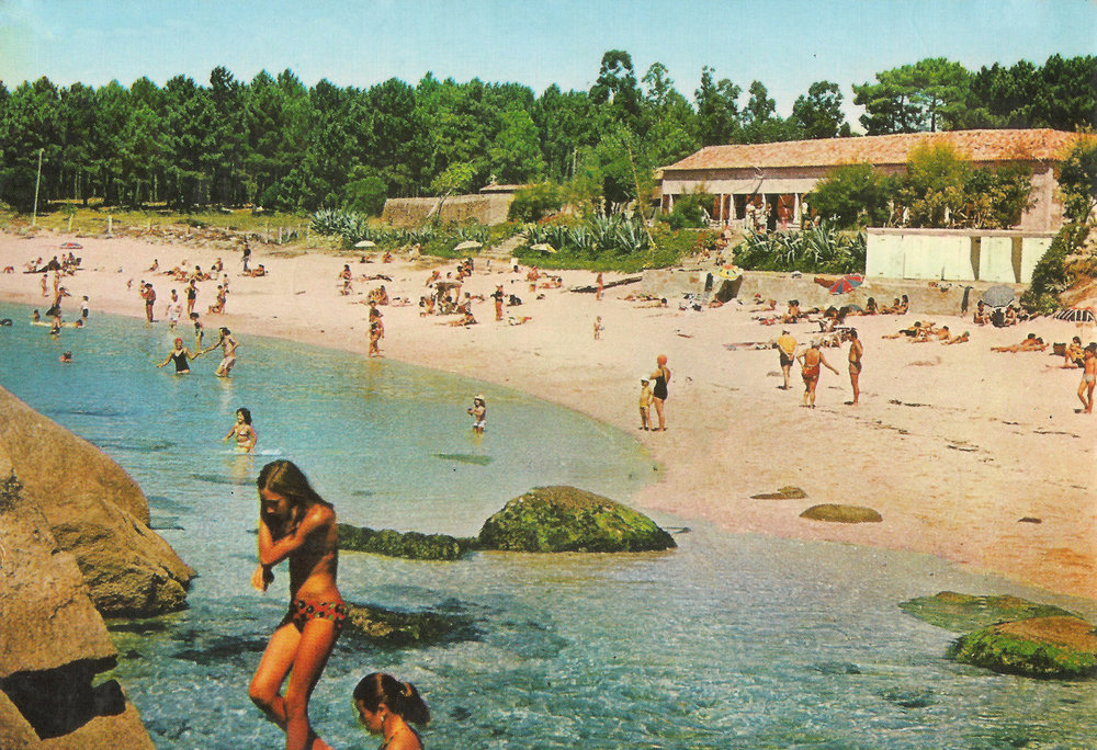 Playa y Camping de Coroso en los años 70 /  Beach and Camping of Coroso in the 70s