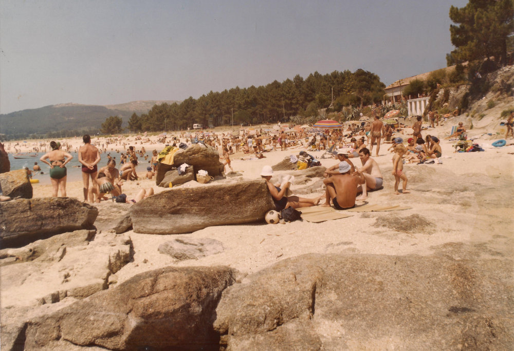 Playa de Coroso en los años 80 /  Coroso Beach in the 1980s