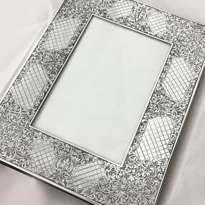 Traditional hand Engraving Silver frame
