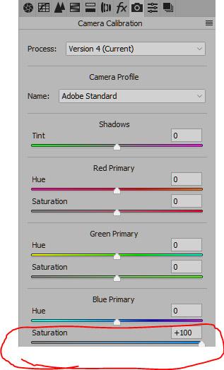 Camera Calibration tab