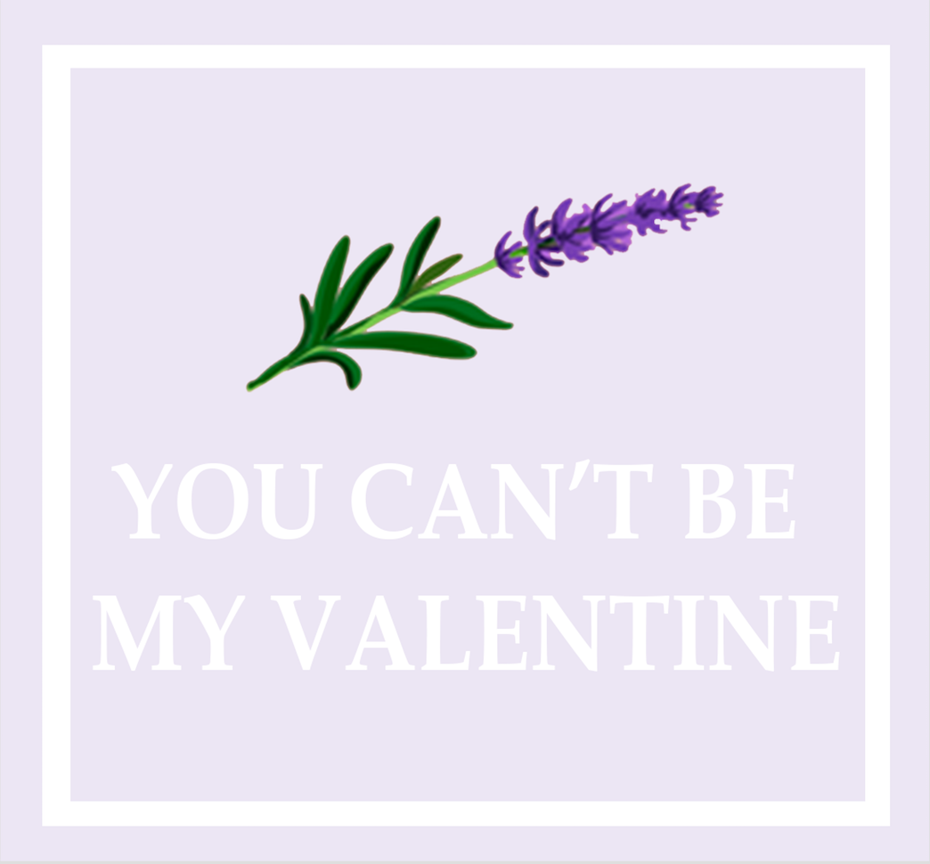 YOU CAN'T BE MY VALENTINE