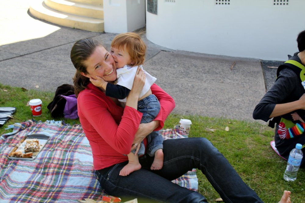 Me (Shannon) at my mother's group in Sydney with my first baby!