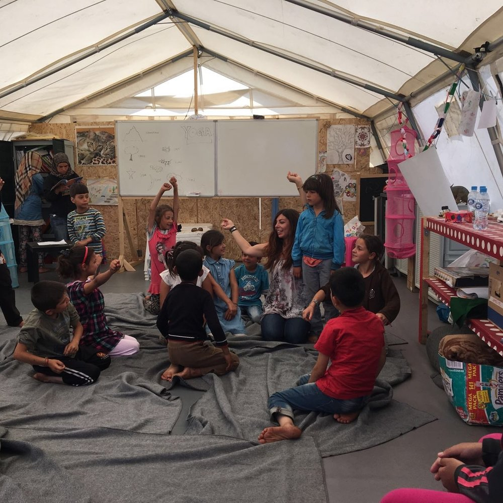 Using yoga and trauma-informed education with a group of refugee children at a camp in northern Greece